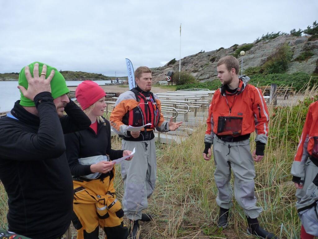 Sea kayaking safety briefing