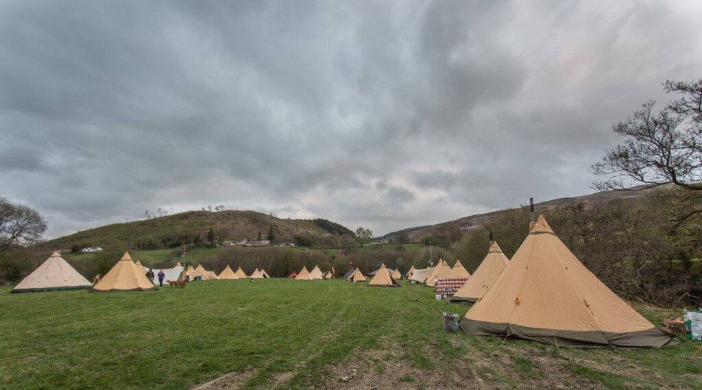 Lots of Tipis on parade