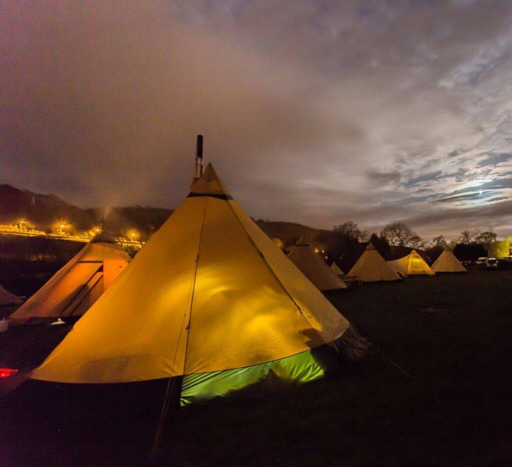 The Tentipis look fantastic in this long exposure shot at dusk
