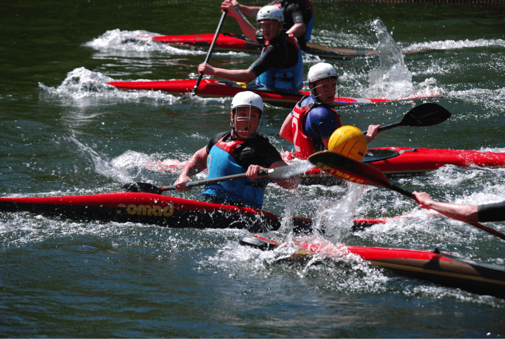 Canoe Polo is played indoors and outdoors