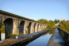 Chirk viaduct from canal aqueduct