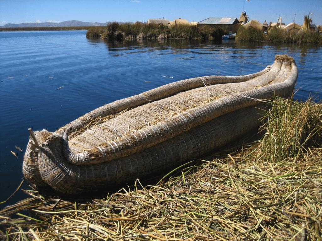 A Reed Canoe on Lake Titicaca