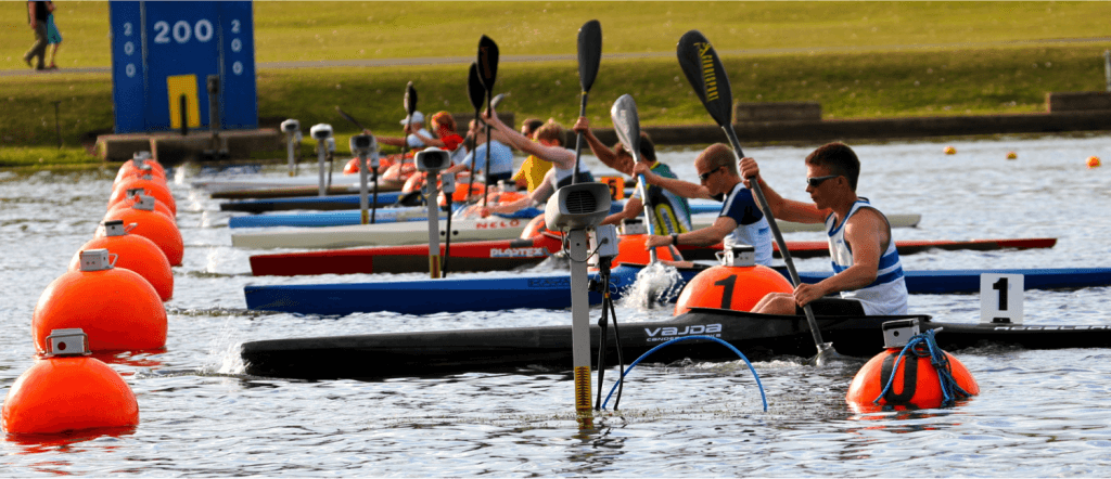 First Regatta 1867 First Olympics 1936 Berlin (folding kayaks) First international win 1953 in Duisburg in K4 Glass fibre and Nottingham centre popularised sprint canoeing and kayaking in the UK First Olympic medal in 2000, bronze for Tim Brabants in K1