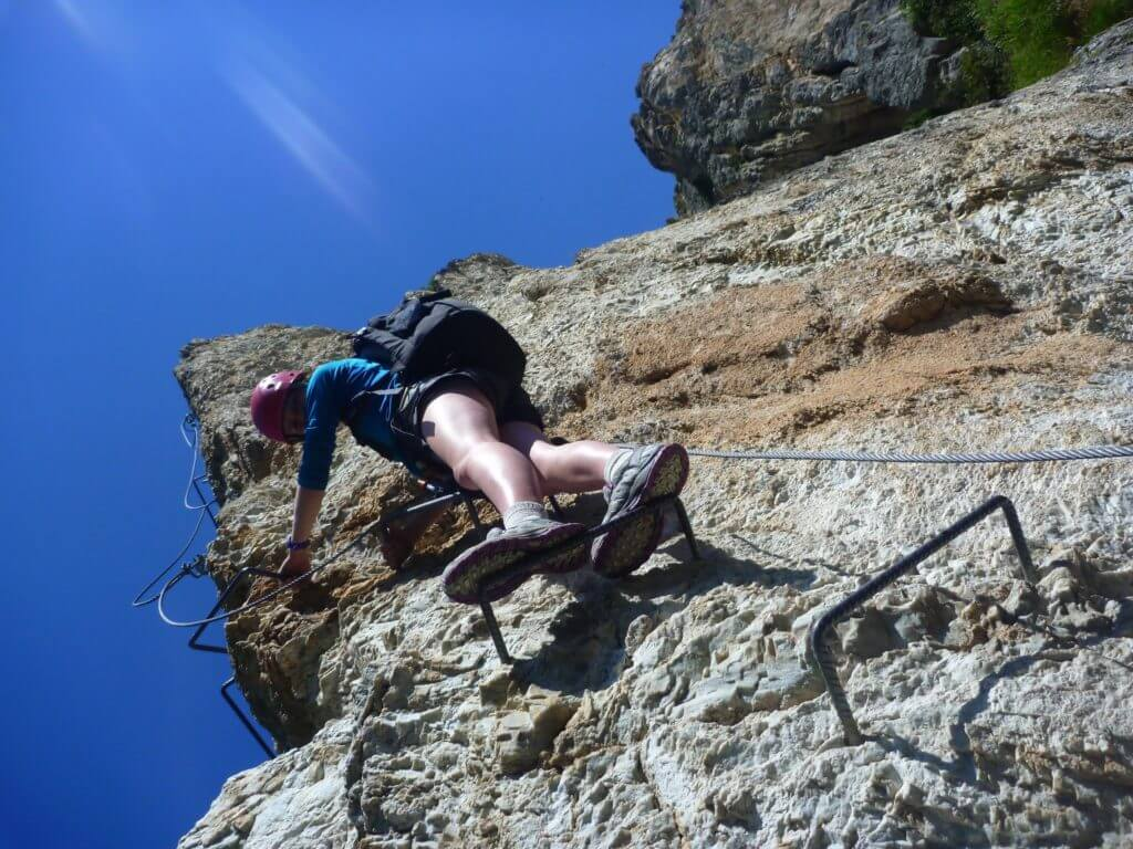 A Vertical Section on Via Ferrata Les Bettieres