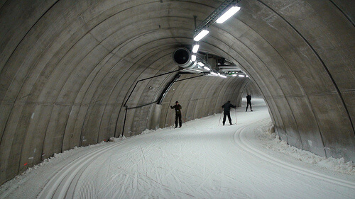 Torsby Ski Tunnel on the inside