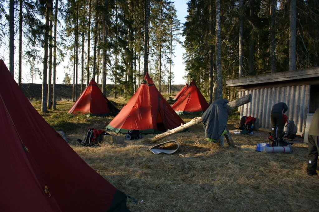Tentipi in a Swedish Forest