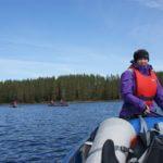 Crossing a lake on Svartalven