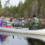Canoeing to the camp site