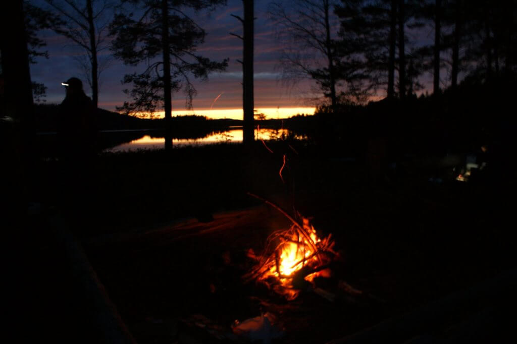 Camping near Svartälven