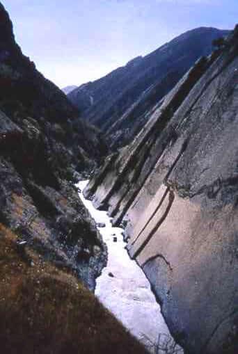 Bakhtiaria River in the Zagros Mountains of Iran