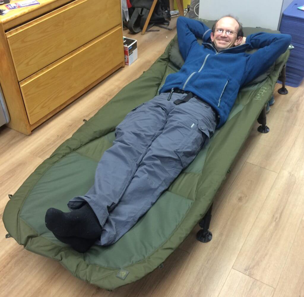 A very comfortable camp bed