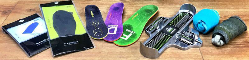 A range of insoles and volume adjusters for walking boots and shoes