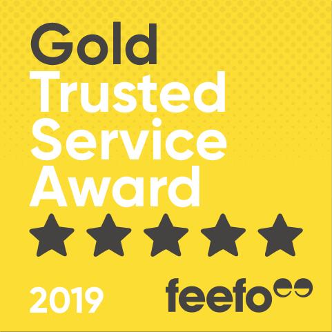 PROADVENTURE AWARDED FEEFO GOLD TRUSTED SERVICE AWARD 2017/2018/2019