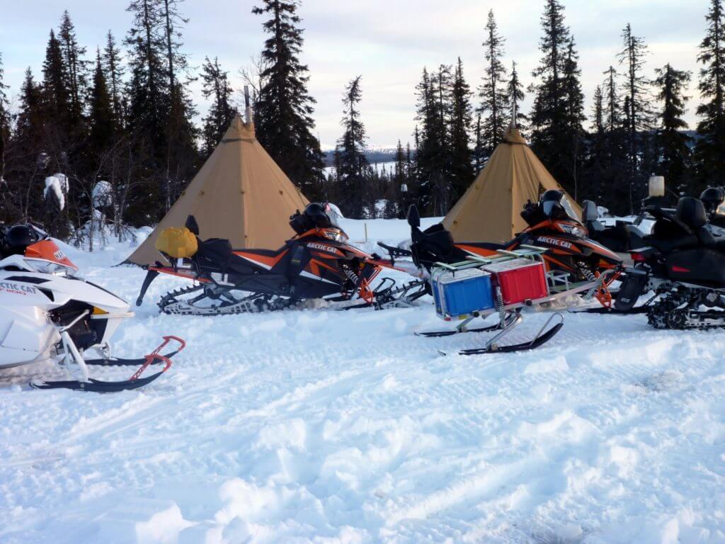 Tentipi winter camping in sweden