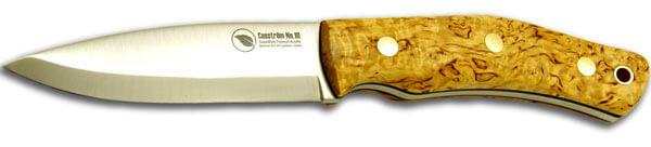 Casstrom No 10 Bushcraft Knife in curly Birch