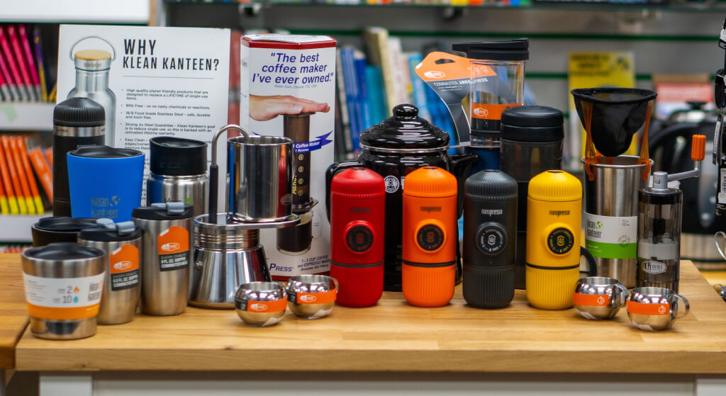 Coffee products we sell at Pro Adventure