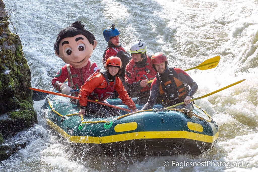 Rafting the River Dee in Wales,  a Photographic Guide