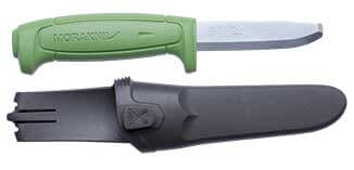 The Green Mora Safe Knife with Sheath and Finger Guard