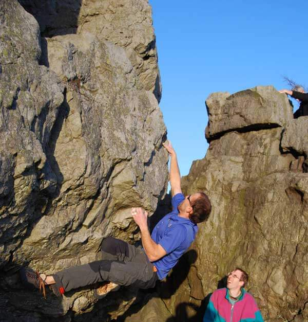 Rock Climbing at Monument Boulders near Llangollen