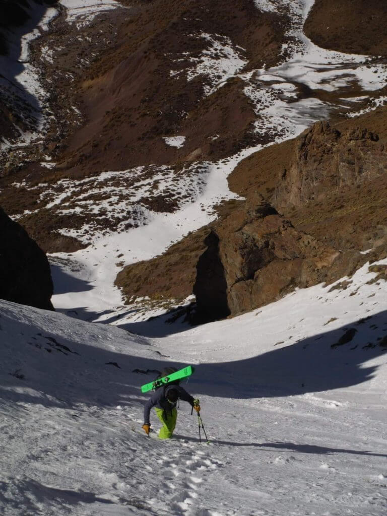 Tom Laws ski mountaineering in Patagonia