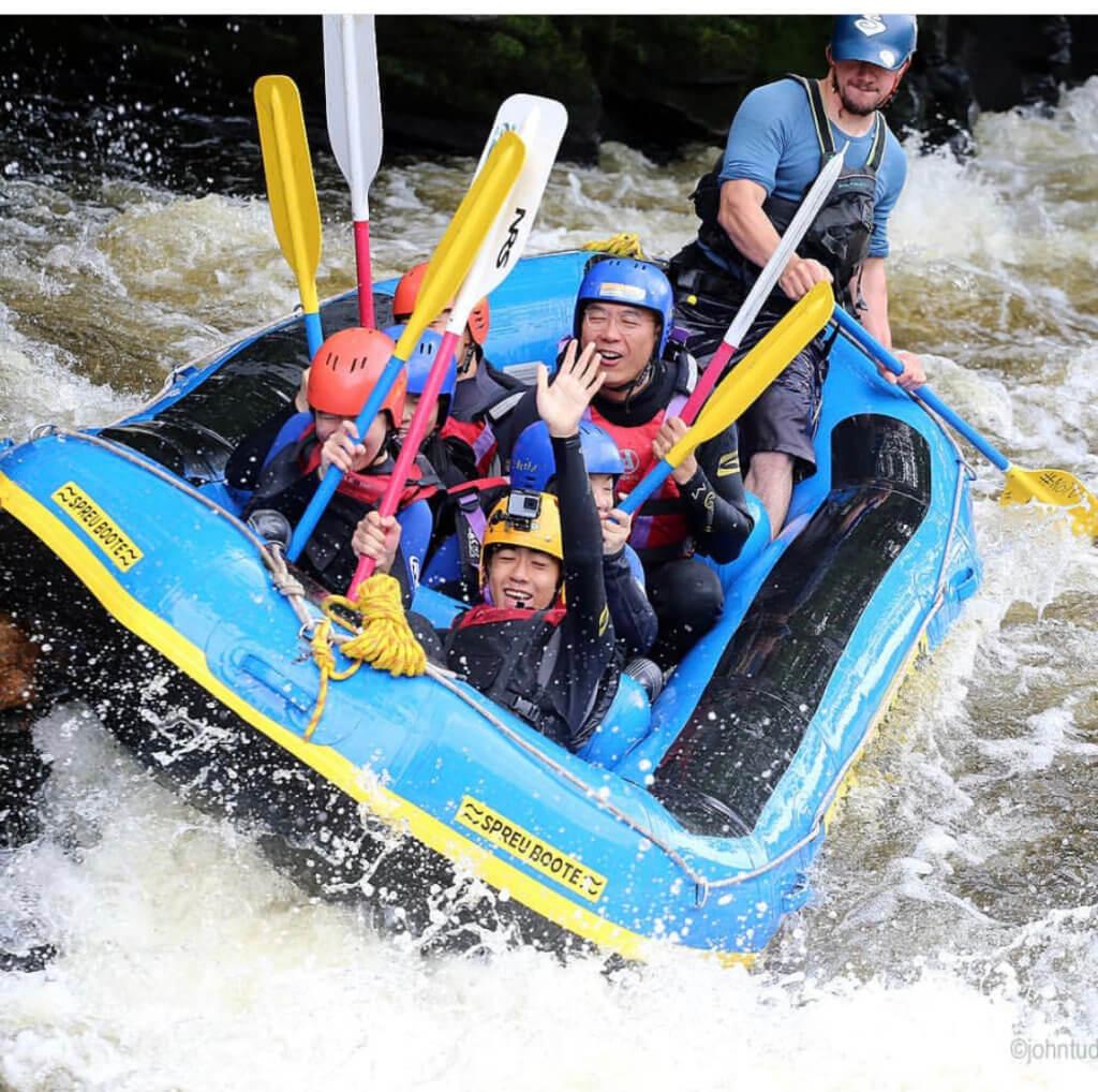 Rafting in Woolpower